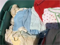 Tote of Vintage Baby/Child's Clothing