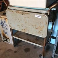 Drop Side Metal Kitchen Cart