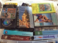 Lot of VHS Tapes and DVDs