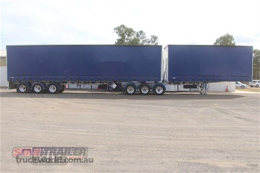 2009 Maxitrans 34 Pallet Curtainsider B Double Set - Trailers for Sale