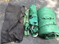 2 Canvas Camp Chairs, LL Bean Sleeping Bag
