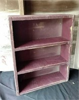 Wine colored primitive shelf, farmhouse