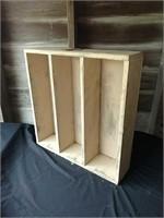 Primitive ivory shelf/flower box with rustic star