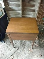 Sewing cabinet without machine