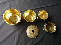 Brass planters (4), made in India, brass fixture