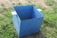 BLUE METAL BOX 22X22X20 TALL