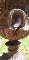 Pair of stunning Antique cast Iron Urns & Stands