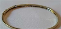 14 K yellow gold 0.45 ctw diamond bangle bracelet