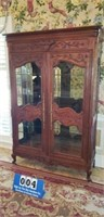 Awesome Vintage Cherry Display Cabinet
