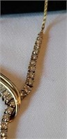"14K yellow gold diamond ""y"" drop necklace"