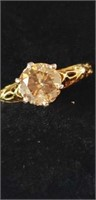 14k yellow gold filigree two tone antique ring