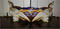 Ginovi Handpainted Italian Eagle Centerpiece