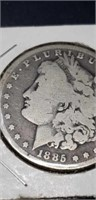 1885 morgan silver $1 collectable coin