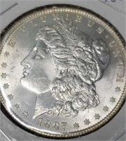 1887 Morgan silver $1 collectable coin