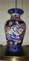 Asian Stoneware Imari Style Large Vase