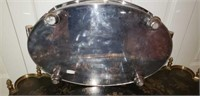 Large Art Deco Style Silverplate serving Platter
