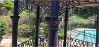 Stunning Large Ornate Metal Outdoor Gazebo