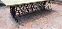 Custom Made Vintage Metal Outdoor Patio Table
