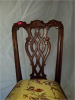 Child's Size Mahogany Carved Wood Chair