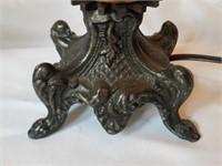 Pair of Vintage Heavy Metal Decorative Lamps