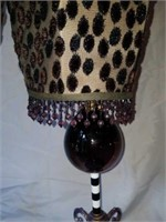 Pair of Blown Glass & Metal Decorative Lamps