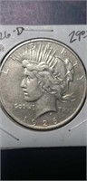 1926 D XF peace silver $1 collectable coin
