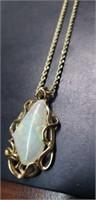"""Opal 10"""" 14 k gold necklace"""