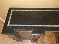 Marble Top Hall Table Gold Gilded Lions