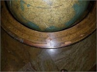 Large Vintage Globe on Wooden Stand
