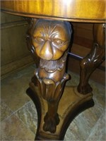 Antique Brass-lined English Lion Head Wash Stand