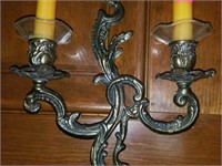 Beautiful Pair of Brass Candle Holders