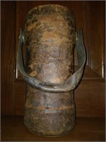 Antique Leather German Container with Handle