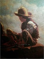 """Oil on Canvas """"Breezing Up"""" by Winslow Homer"""