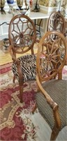 Set of 6 Web Back Upholstered Chairs