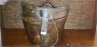 Nice Vintage Leather hat box with Key