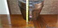 Large Vintage Leather Hat Box with Key