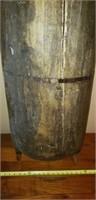 Original Antique Large Dough Bowl Oblong