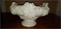 Nice Vintage Heavy Pottery Grape pattern  Bowl