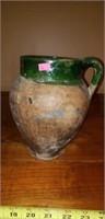 Vintage Utility pottery Vessel jug