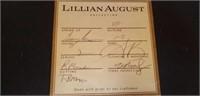 Lillian August Collection sofa w/ throw pillows
