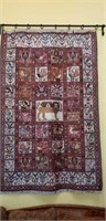 Antique persian handmade rug Aztec style rug