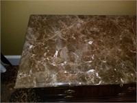 Beautiful Henkel-Harris Marble Top 4 Drawer Chest