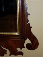 Wood Framed Bevelled Glass Mirror