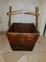 Primitive Super Cool Wooden Basket