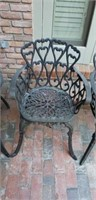 Set of 4 Vintage Metal Outdoor Patio Chairs #1