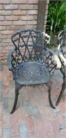 Vintage Metal Patio Outdoor Chairs lot of 4 #2
