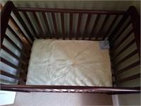 Wooden Roll Around Baby Bed/Crib