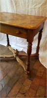 Vintage Oak Table with Faux Marble Wood Top