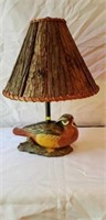 Wooden Duck Lamp with Wood Panel Shade