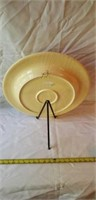 Large Italian Handpainted Bowl with Stand